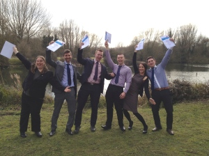 Dawsongroup plc's first and very happy group of Business Mastery graduates