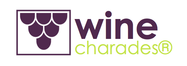 wine charades logo purple with green